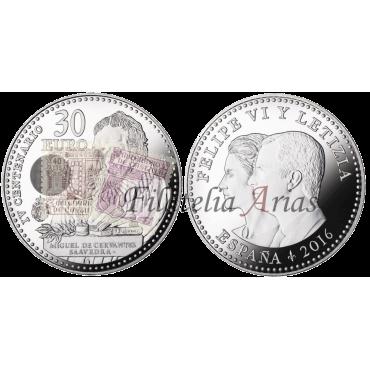 30 euros - IV Centenario muerte Cervantes