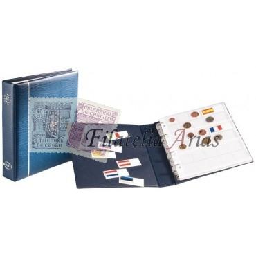 Álbum de monedas NUMIS EURO, azul