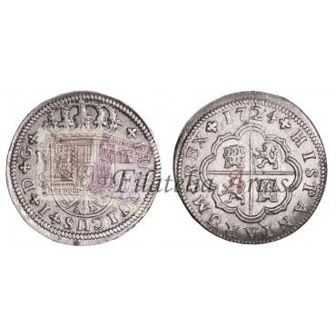 Felipe V. 2 reales 1724. Lima