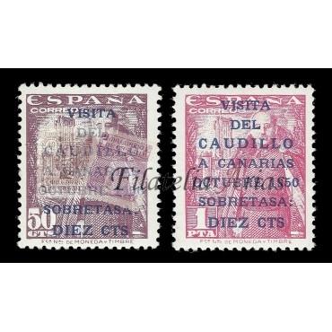 1083A/B Visita del Caudillo a Canarias - CHARNELA