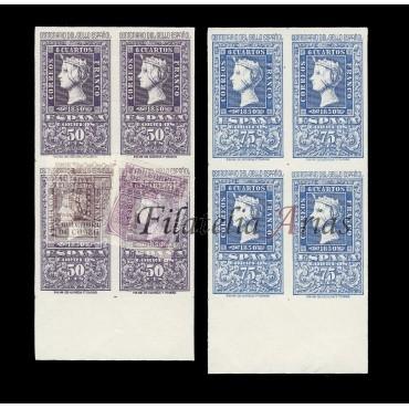 1075/82 Centenario del Sellos Español - BLOQUE 4 - NUEVO