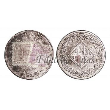 José Napoleón. 1 peseta. 1810. Barcelona