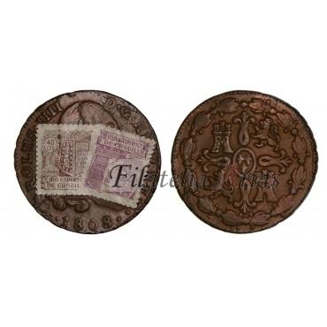 Carlos IV. 8 maravedís. 1808. Segovia