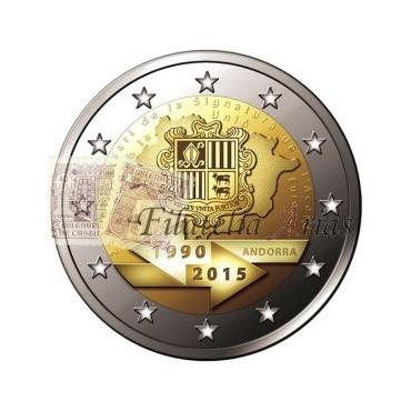 2€ 2015 Andorra - Acuerdo aduanero