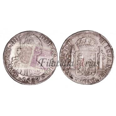 Carlos IV. 8 reales. 1807. México.