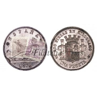 Gobierno Provisional. 1 pta. 1870*73