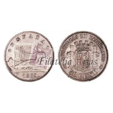 Gobierno Provisional. 50 ctos. 1869*69