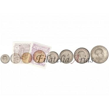 Serie 8 monedas - 10 Céntimos a 100 Pesetas. (*70)