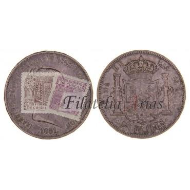 Isabel II. 20 reales. 1851. Madrid.