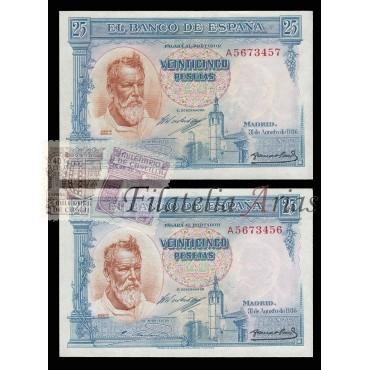 25 pesetas 1936 - Sorolla