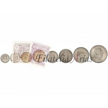 Serie 8 monedas - 10 Céntimos a 100 Pesetas. (*71)