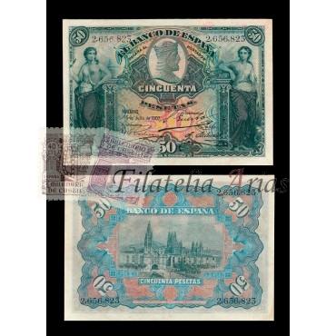 50 ptas 1907 - Sin Serie (EBC)