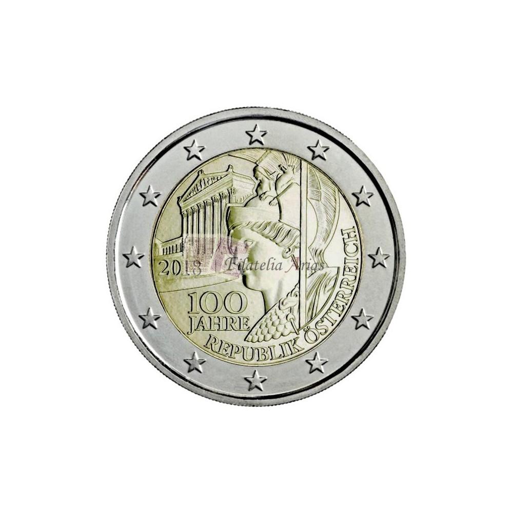 2€ 2018 Austria - 100º República