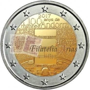 2€ 2017 Andorra - Himno de Andorra