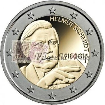 2€ 2018 Alemania - Helmut Schmidt (5 cecas)