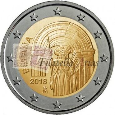 2€ 2018 España - Santiago de Compostela