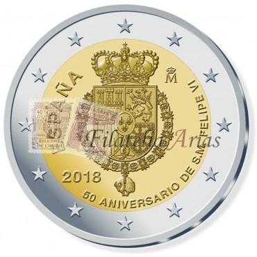 2€ 2018 España - 50º aniversario Felipe VI