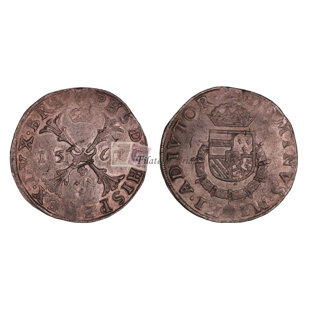 Felipe II. Escudo. Amberes. 1567