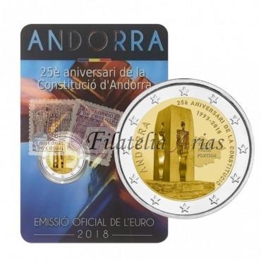 2€ 2018 Andorra - 25º aniv. Constitución