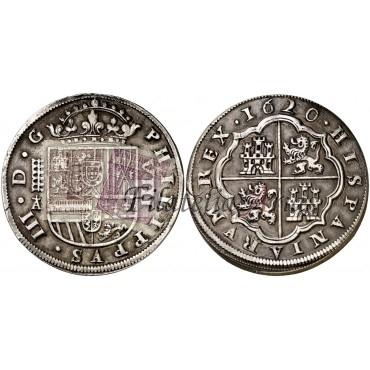 Felipe III. 1620. 8 reales. Segovia.