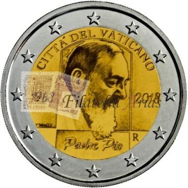 2€ 2018 Vaticano - Padre Pío