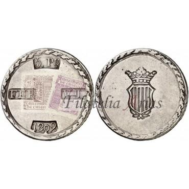 Fernando VII. 5 pesetas. 1809. Tarragona.