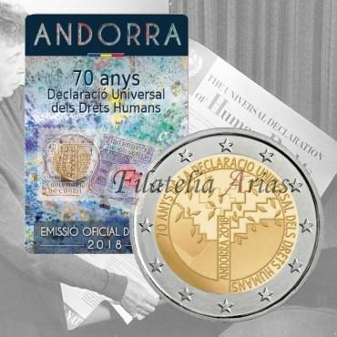 2€ 2018 Andorra - Derechos Humanos