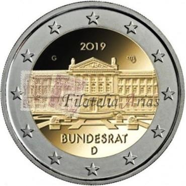 2€ 2019 Alemania - Bundesrat (5 cecas)