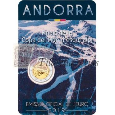 2€ 2019 Andorra - Esquí alpino