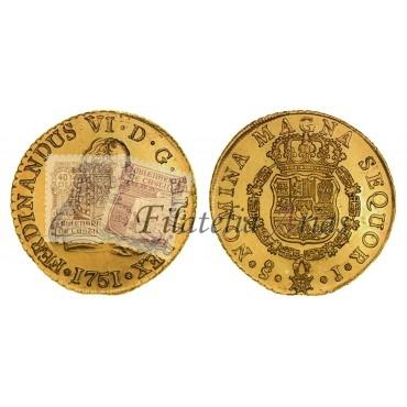 Fernando VI. 8 escudos. 1751. Santiago