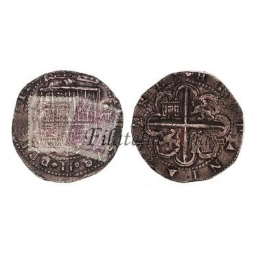 Felipe II. 8 reales. Sin fecha. Sevilla.