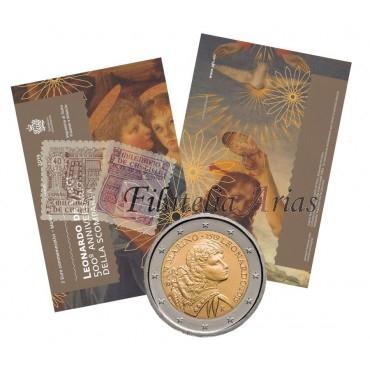 2€ 2019 San Marino - Leonardo da Vinci