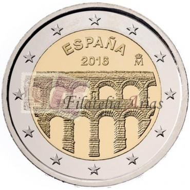 2€ 2016 España - Acueducto Segovia