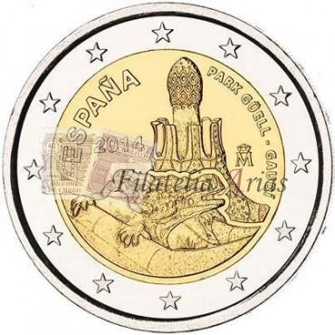 2€ 2014 España - Parque Güell