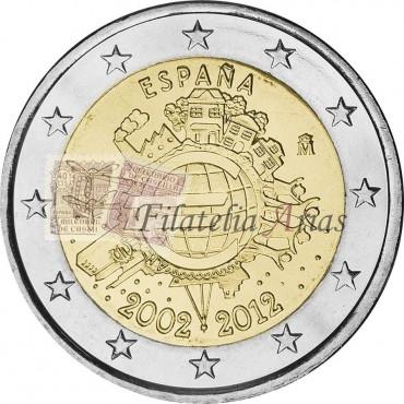 2€ 2012 España - 10ª Ani. Euro