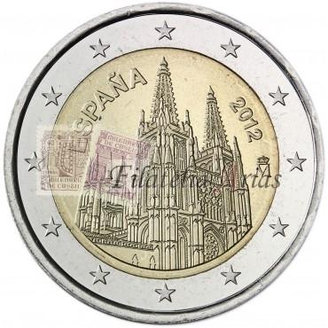 2€ 2012 España - Catedral Burgos