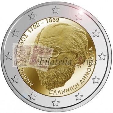 2€ 2019 Grecia - Andreas Kalvos