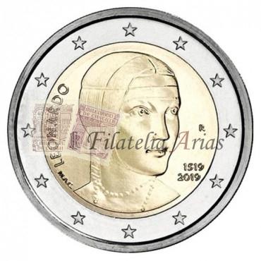 2€ 2019 Italia - Muerte Leonardo da Vinci