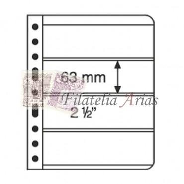 Hojas de plástico VARIO, 1 división, transparente