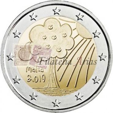 2€ 2019 Malta - Naturaleza