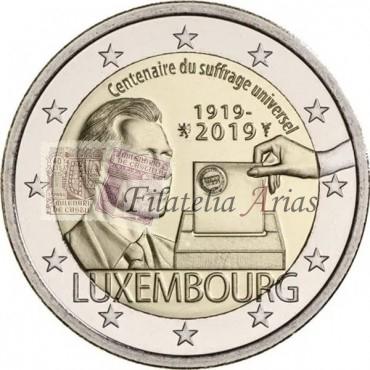 2€ 2019 Luxemburgo - Sufragio