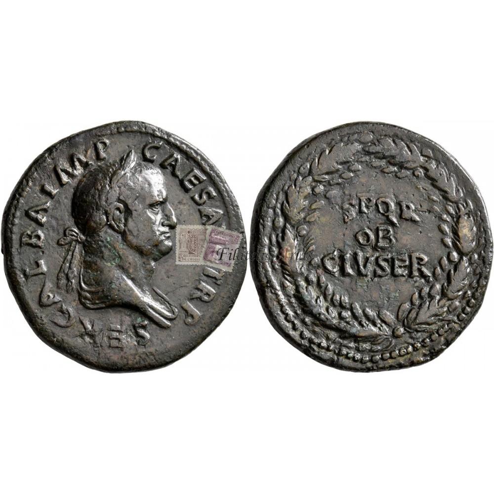 Galba. Sestercio (68 d.C.)