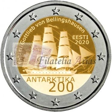 2€ 2020 Estonia - Antártida