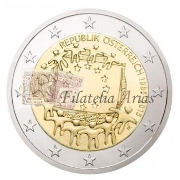 2€ 2015 Austria - Bandera europea