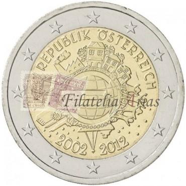 2€ 2012 Austria - Diez años del Euro