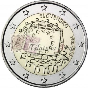 2€ 2015 Eslovaquia - Bandera europea