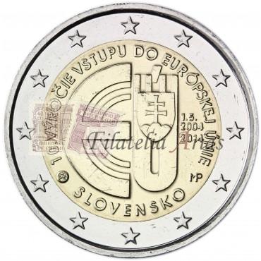 2€ 2014 Eslovaquia - Entrada unión europea