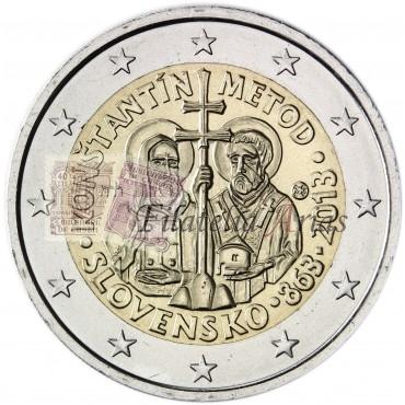 2€ 2013 Eslovaquia - Constantino y Metodio
