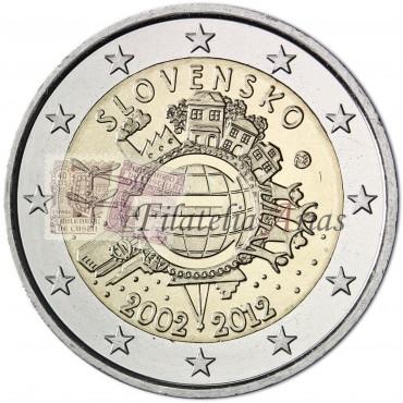 2€ 2012 Eslovaquia - Diez años del Euro
