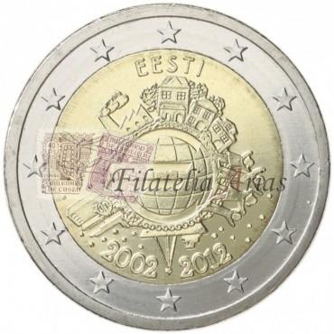 2€ 2012 Estonia - Diez años del Euro